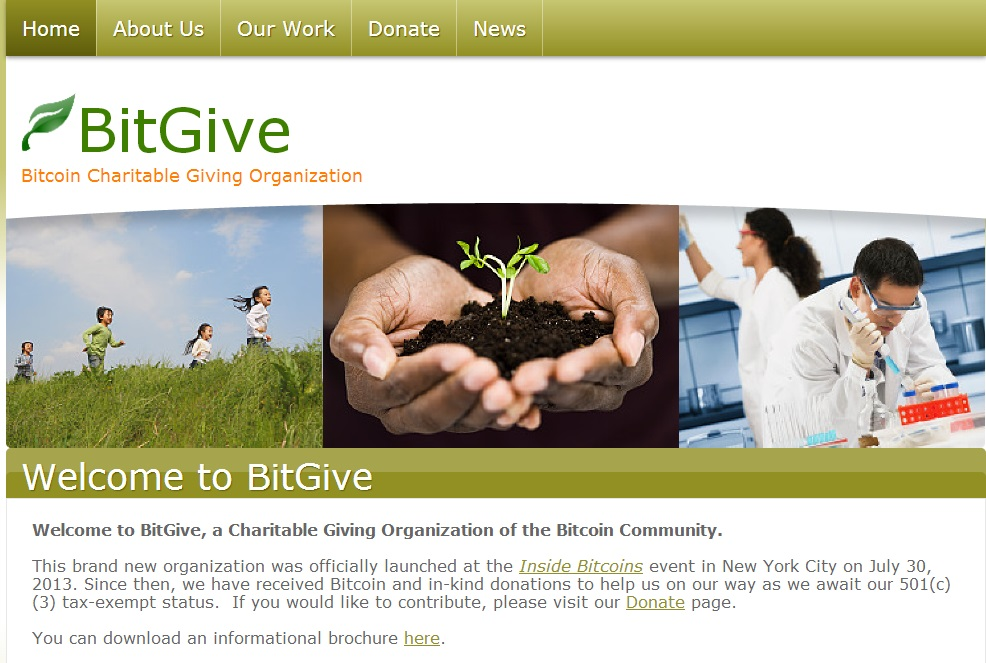 BitGive Screenshot