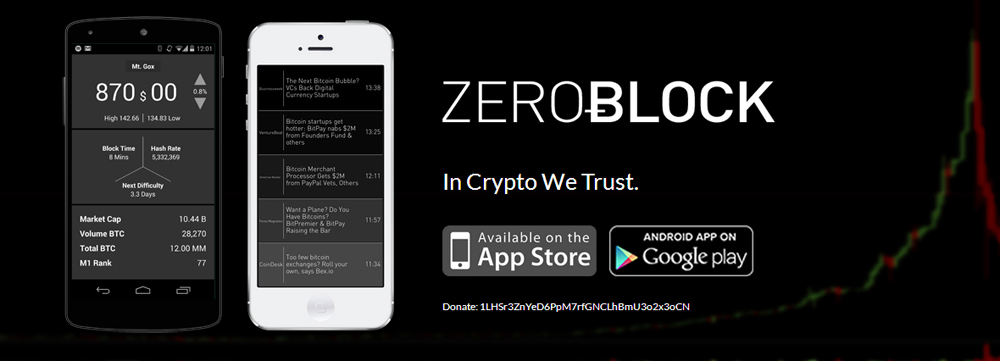 ZeroBlock Bitcoin App Now Available on Android Devices – The Popular iOS App Integrating Real Time Market Data And News For Serious Bitcoiners is Now Available on Android