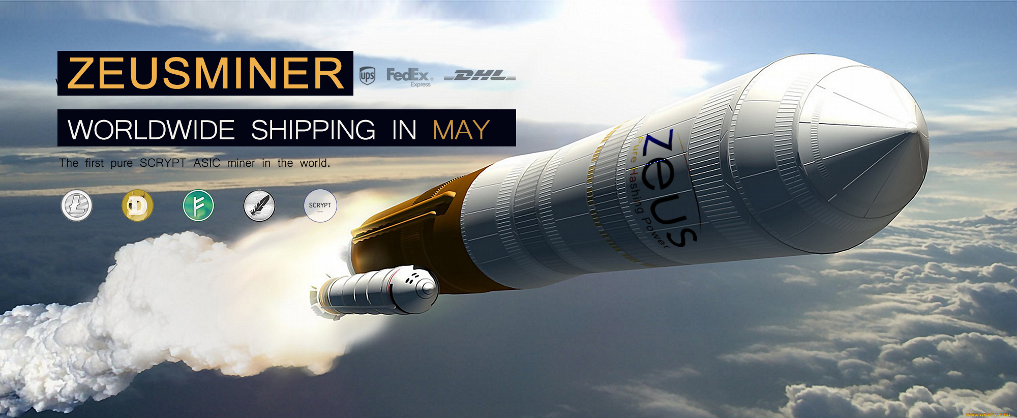 ZeusMiner Shipping May