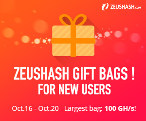 2000 Free Bitcoin GH/s Gift Bags Offered by Cloud Mining Giant ZeusHash