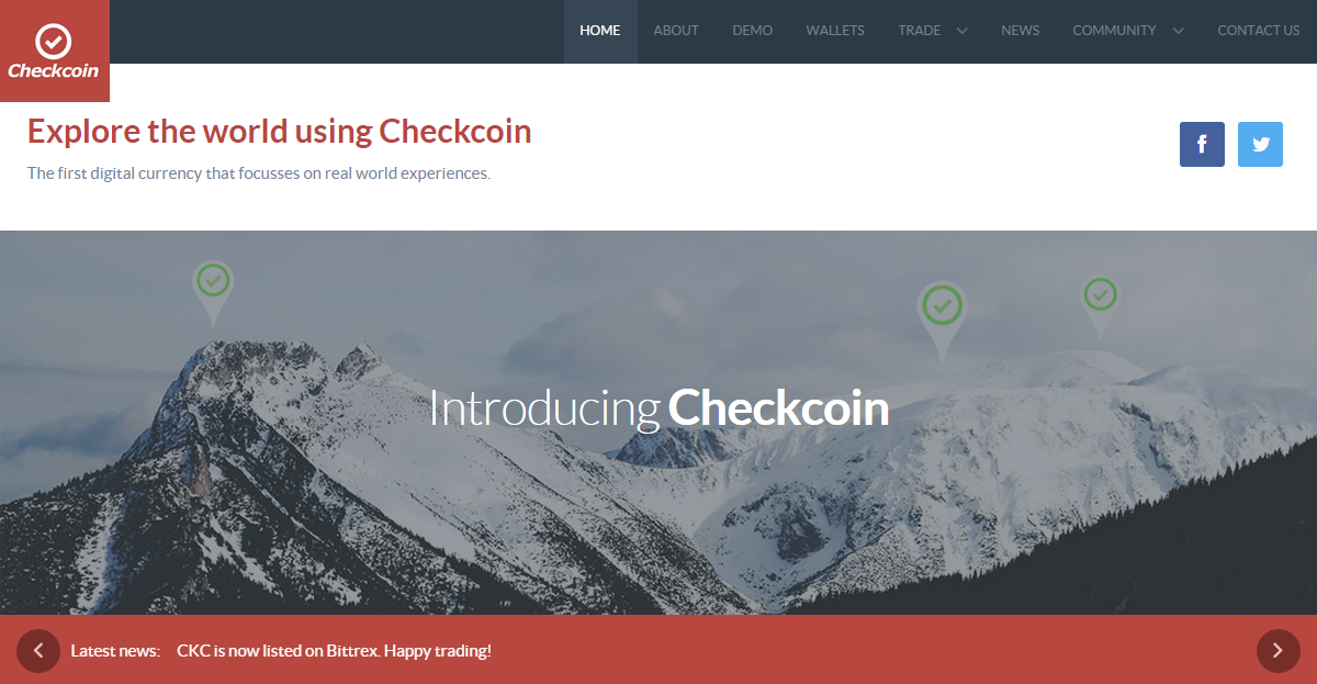 Checkcoin Screenshot