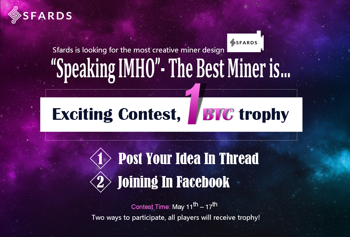 """Sfards Competition For 1 BTC: """"Speaking IMHO""""- The Best Bitcoin Miner Is…1000 Free Dogecoin For All Entrants"""