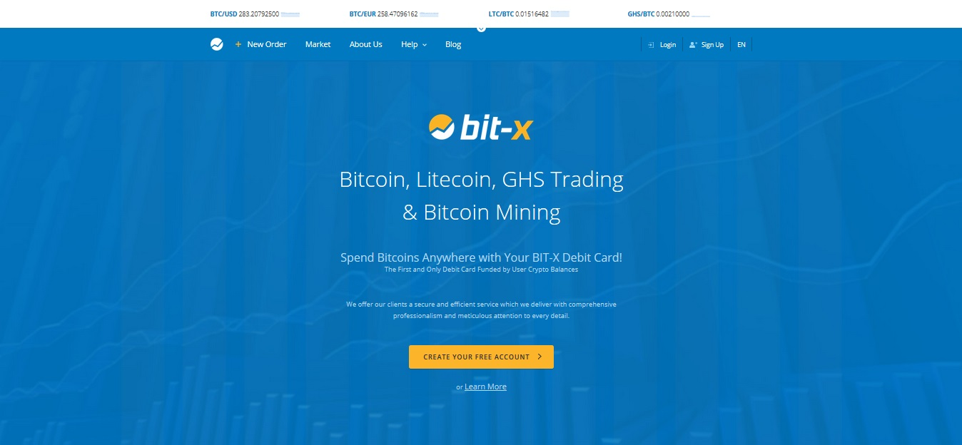 BitX Screenshot