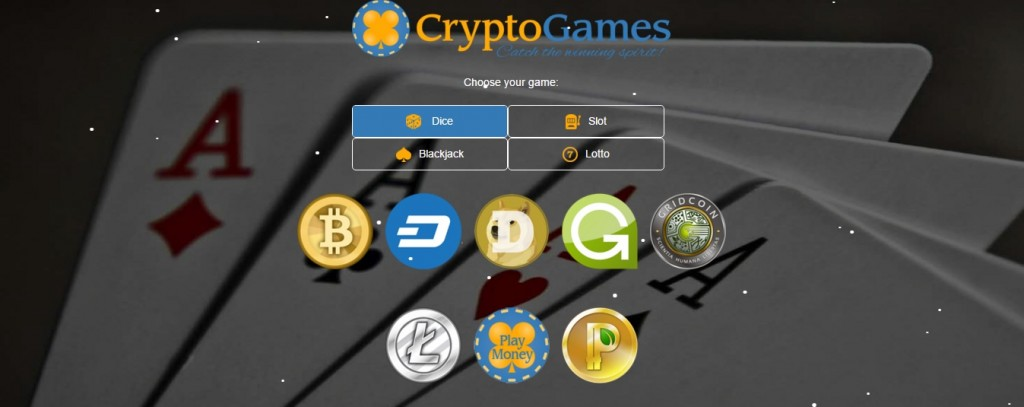 Crypto-Games.net Enables Online Bitcoin Dice, Blackjack, Slot, and Lottery Gaming With Dogecoin, Litecoin, Dash, and More
