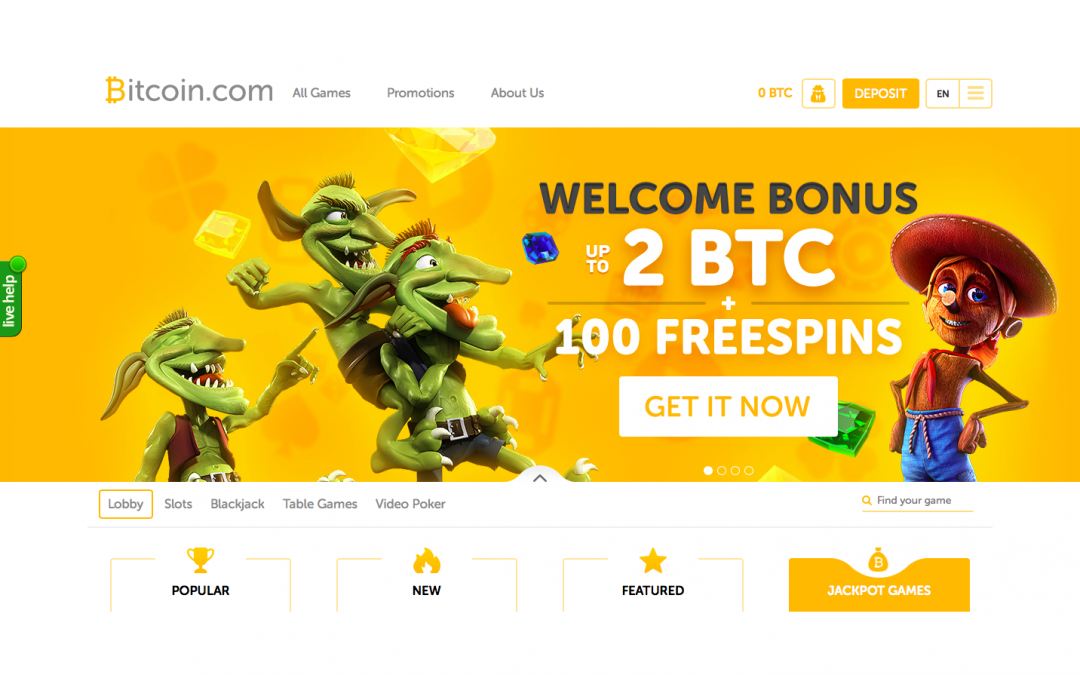 Bitcoin.com Launches Bitcoin Casino with Over 1000 Games and Free Bitcoin Bonus