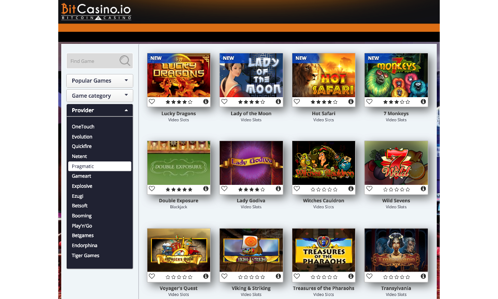 BitCasino.io Bolsters Its Bitcoin Casino Offering by Adding New Games