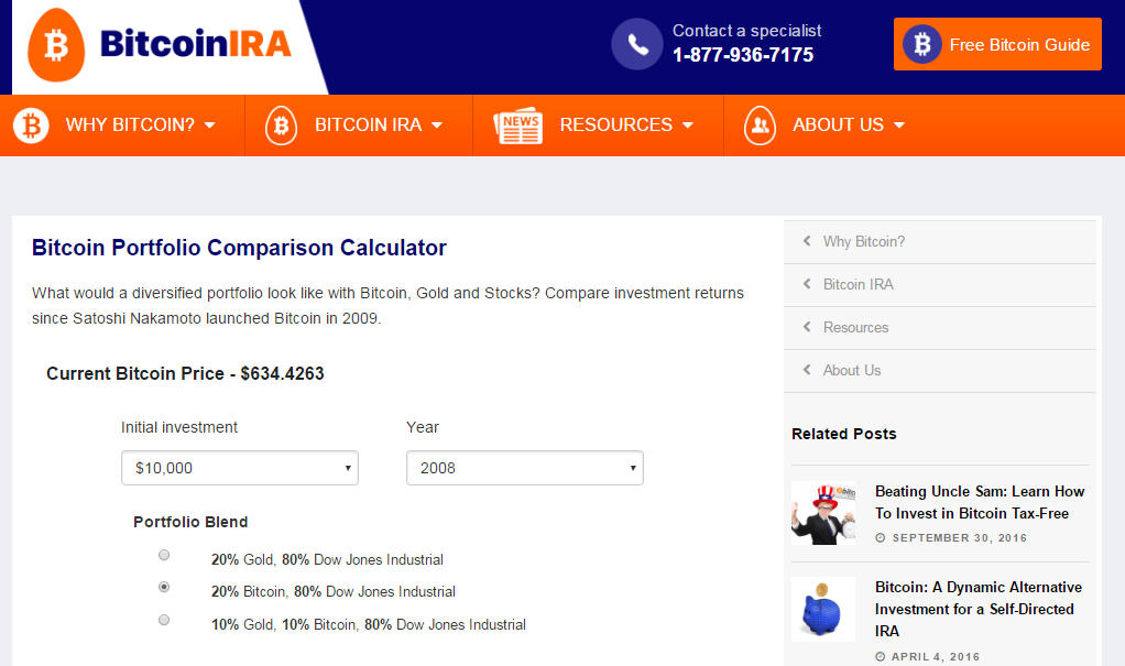 Bitcoin IRA Launches New IRA Calculator Tool for Investors - Bitcoin ...