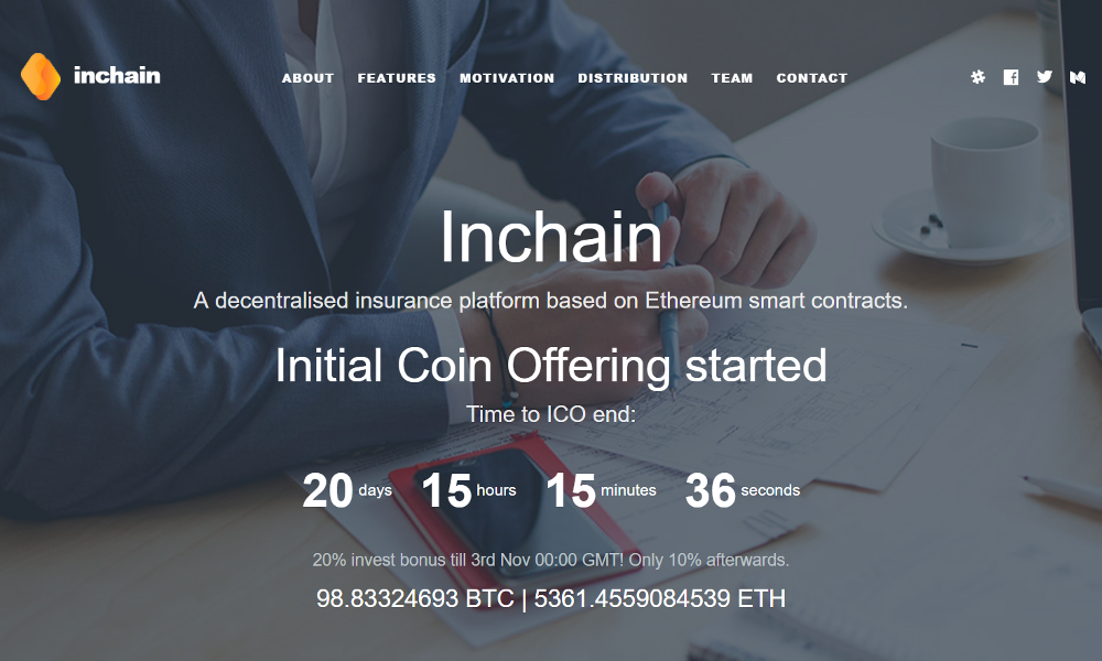 Blockchain Insurance Platform Inchain's Ongoing ICO Offers a Great Investment Opportunity