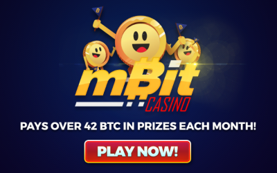 MBit Casino Has Been Paying Out Over 42 BTC in Prizes Each Month!