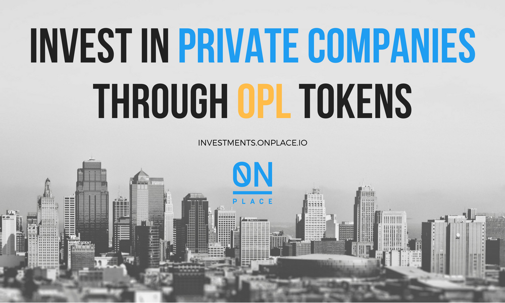 Become an Investor of Private Companies with Blockchain Powered OnPlace Inc. Platform