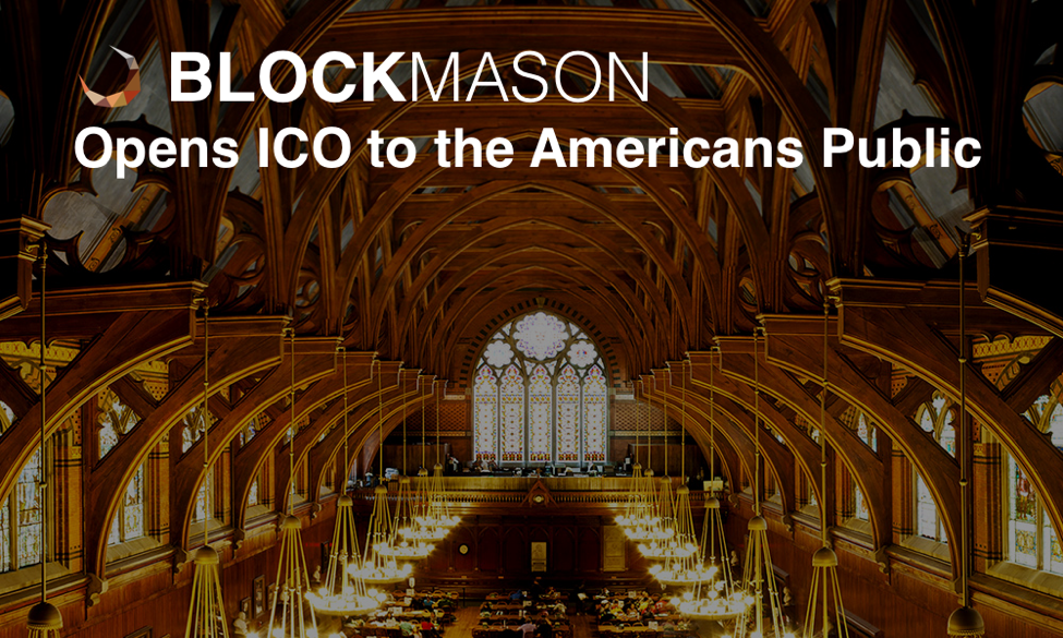 BlockMason Opens their Debt Protocol Token ICO to the American General Public