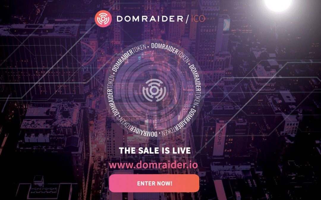 Blockchain Startup DomRaider Announce a Successful Pre-Sale, Selling over 262 Million DMR Tokens, ICO Is Now Live