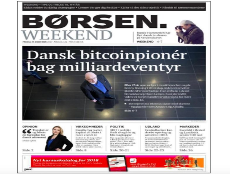 Danish Bitcoin Pioneer Ronny Boesing Behind Crypto Startup Openledger