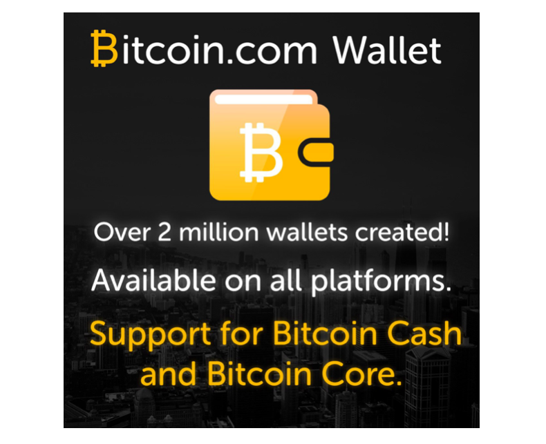 Bitcoin.com Celebrates 2 Million Wallets Created  in Less Than a Year