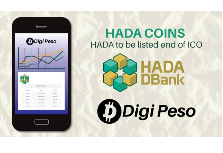 Hada DBank's Digital Coin (HADA Coin) Acquires Listing on Digi Peso Trading Exchange