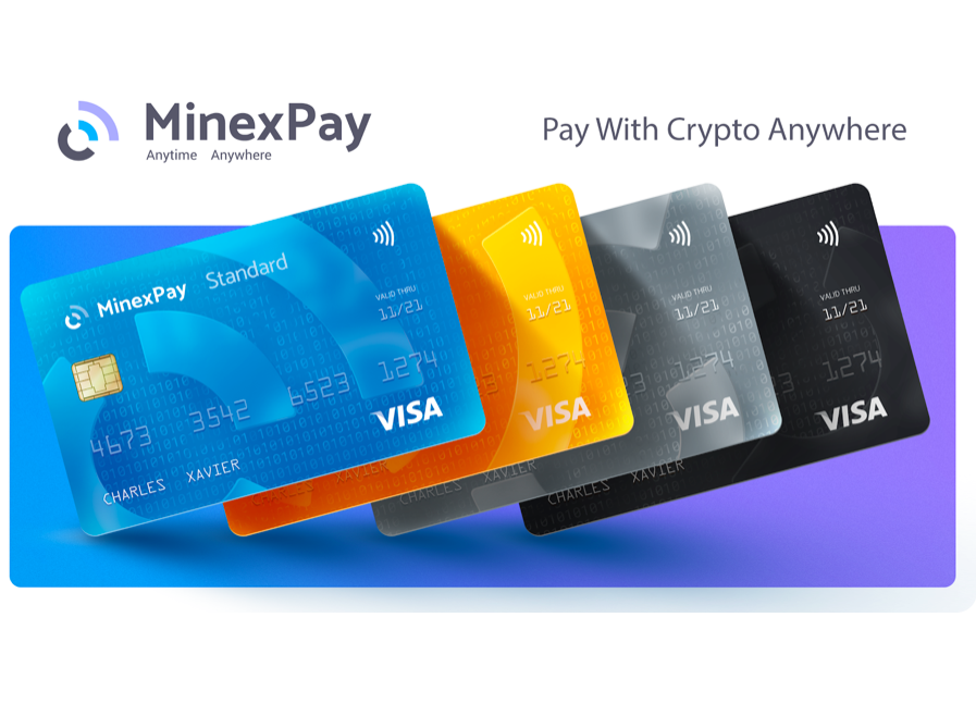 MinexPay: Pay with crypto instantly anywhere! The easiest and fastest way to make everyday purchases with Crypto debit card!
