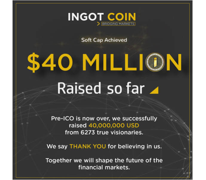 INGOT COIN Announces they have Achieved their Soft Cap